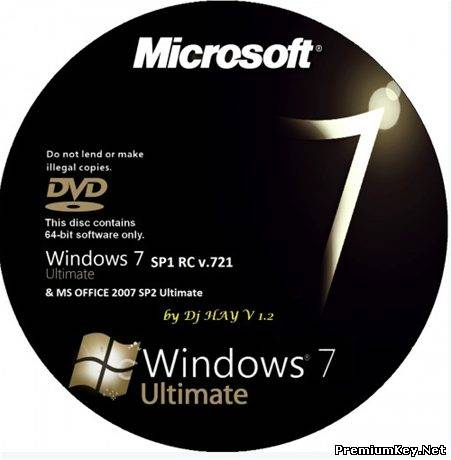 Windows 7 SP1 RC Ultimate x64 & MS OFFICE 2007 Ultimate SP2 by Dj HAY v1.2 (RUS)