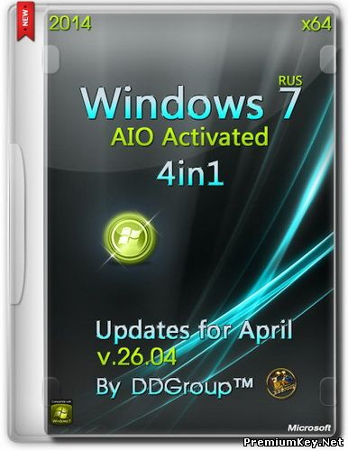 Windows 7 SP1 x64 4in1 AIO Activated v.26.04 by DDGroup™ Rus (26.04.2014)
