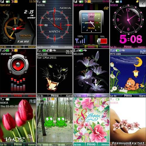 Wonderful theme for Nokia S40 Pack 31